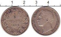 Изображение Монеты Вюртемберг 1/2 гульдена 1862 Серебро XF-