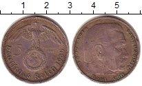 Изображение Монеты Третий Рейх 5 марок 1939 Серебро VF