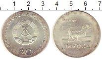 Изображение Монеты ГДР 20 марок 1975 Серебро UNC- Иоганн  Себастьян  Б