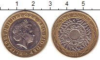 Изображение Монеты Великобритания 2 фунта 2011 Биметалл UNC-