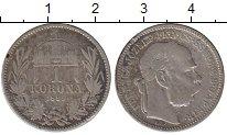 Изображение Монеты Венгрия 1 крона 1895 Серебро VF Франц Иосиф I