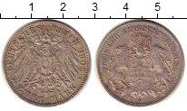 Изображение Монеты Гамбург 2 марки 1908 Серебро XF
