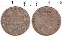 Изображение Монеты Нассау 1/2 гульдена 1858 Серебро XF-