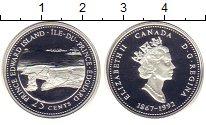 Монета Канада 25 центов Серебро 1992 Proof фото