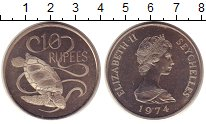 Изображение Монеты Сейшелы 10 рупий 1974 Медно-никель UNC-