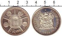 Изображение Монеты ЮАР 1 ранд 1974 Серебро Proof- 50 - летие  Монетног