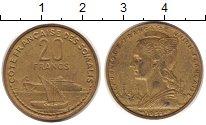 Изображение Монеты Сомали 20 франков 1952 Латунь XF морские суда