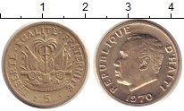 Изображение Монеты Гаити 5 сентим 1970 Медно-никель XF