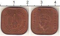 Изображение Монеты Великобритания Малайя 1 цент 1943 Бронза UNC-