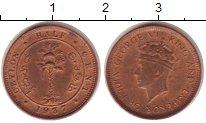 Изображение Монеты Шри-Ланка Цейлон 1/2 цента 1937 Бронза VF