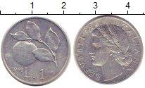 Изображение Монеты Италия 1 лира 1949 Алюминий XF