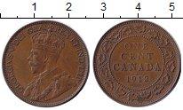 Изображение Монеты Канада 1 цент 1912 Бронза XF Георг V.