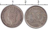 Изображение Монеты Малайя 10 центов 1939 Медно-никель XF Георг VI.