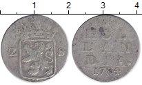 Изображение Монеты Нидерланды Голландия 2 стивера 1784 Серебро VF