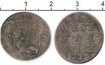 Изображение Монеты Нидерланды Западная Фризия 2 стивера 1722 Серебро VF