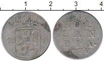 Изображение Монеты Нидерланды Голландия 2 стивера 1774 Серебро VF