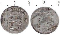 Изображение Монеты Нидерланды Западная Фризия 2 стивера 1725 Серебро VF
