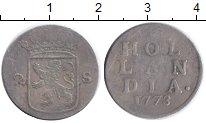Изображение Монеты Голландия 2 стивера 1773 Серебро VF