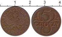 Изображение Монеты Польша 5 грош 1931 Бронза XF