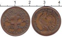 Изображение Монеты Французская Экваториальная Африка 50 сантим 1943 Бронза VF