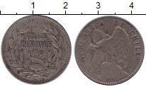 Изображение Монеты Чили 20 сентаво 1899 Серебро VF Кондор.