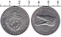 Изображение Монеты Куба 1 песо 1985 Медно-никель UNC Защитим  дикую  прир
