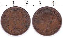 Изображение Монеты Цейлон 1 цент 1892 Бронза VF