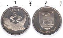 Изображение Монеты Кирибати 5 центов 1979 Медно-никель UNC Ящерица