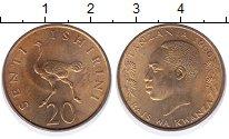 Изображение Монеты Танзания 20 сенти 1966 Латунь UNC-