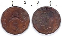 Изображение Монеты Танзания 5 сенти 1966 Бронза UNC-