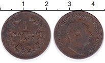 Изображение Монеты Баден 1 крейцер 1847 Медь VF
