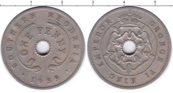 Картинка Монеты Родезия 1 пенни Медно-никель 1939