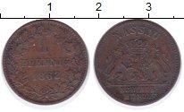 Изображение Монеты Нассау 1 пфенниг 1862 Медь VF