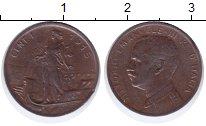 Изображение Монеты Италия 1 сентесим 1915 Бронза XF