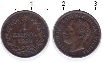 Изображение Монеты Италия 1 сентесим 1904 Бронза XF