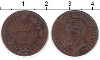 Изображение Монеты Италия 2 сентесимо 1867 Бронза XF