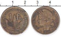 Изображение Монеты Камерун 1 франк 1925 Латунь VF Французский протекто