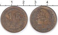 Изображение Монеты Камерун 1 франк 1926 Латунь VF Французский протекто
