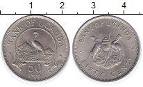 Изображение Монеты Уганда 50 центов 1966 Медно-никель UNC