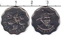 Изображение Монеты Свазиленд 5 центов 1974 Медно-никель UNC