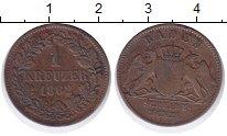 Изображение Монеты Германия Баден 1 крейцер 1962 Медь XF-