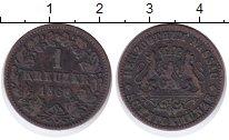 Изображение Монеты Нассау 1 крейцер 1860 Медь XF-