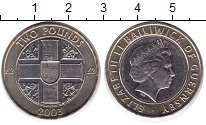 Изображение Монеты Гернси 2 фунта 2003 Биметалл UNC