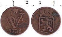 Изображение Монеты Нидерландская Индия 1 дьюит 1736 Медь VF Голландия