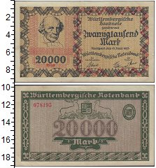 Изображение Боны Веймарская республика 20.000 марок 1923  XF Выпуск 13 июня 1923