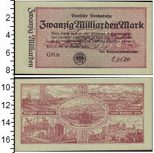 Изображение Банкноты Веймарская республика 20.000.000.000 марок 1923  XF