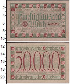 Изображение Боны Веймарская республика 50000 марок 1923  XF