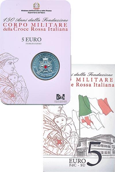 Изображение Подарочные наборы Италия 150 лет Красному кресту Италии 2016 Серебро UNC
