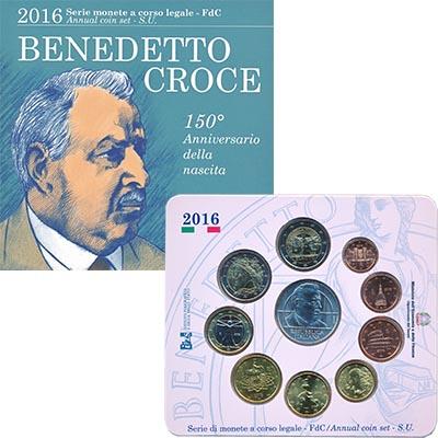 Изображение Подарочные монеты Италия Евронабор 2016 2016  UNC В набор входят восем
