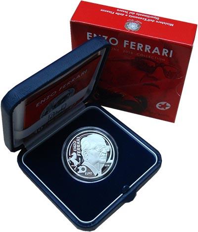 Изображение Подарочные монеты Италия Энцо Феррари 2016 Серебро Proof `Монета номиналом 10